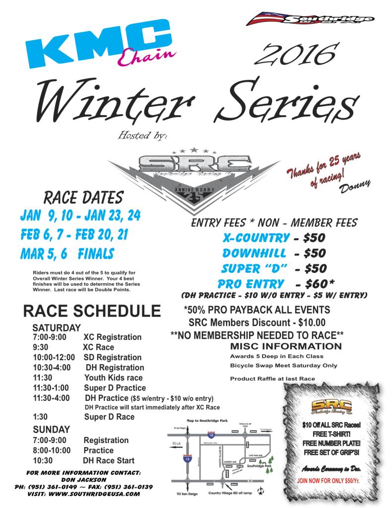 2016 Winters Series Flyer